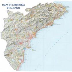 MAPA DE CARRETERAS DE ALICANTE