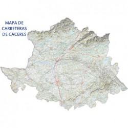 MAPA DE CARRETERAS DE CACERES