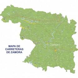 MAPA DE CARRETERAS DE ZAMORA